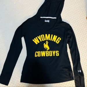 Wyoming Cowboy Under Armour Long Sleeve with Hood